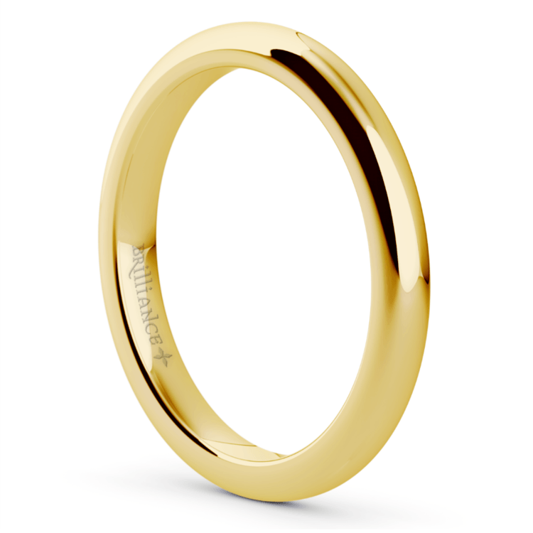 Comfort Fit Wedding Ring in Yellow Gold (2.5mm) | 02
