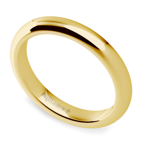 Comfort Fit Wedding Ring in Yellow Gold (3mm)