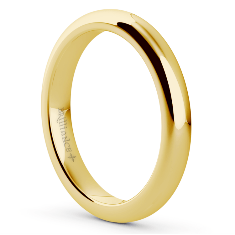 Comfort Fit Wedding Ring in Yellow Gold (3mm) | 02