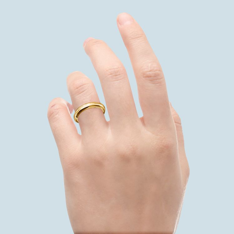 Comfort Fit Wedding Ring in Yellow Gold (4mm) | 03