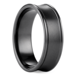 Concave Men's Wedding Ring in Black Titanium | Thumbnail 02