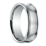 Concave Men's Wedding Ring in White Gold (7.5mm) | Thumbnail 02
