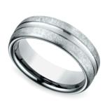 Convex Swirl Men's Wedding Ring in Palladium | Thumbnail 01
