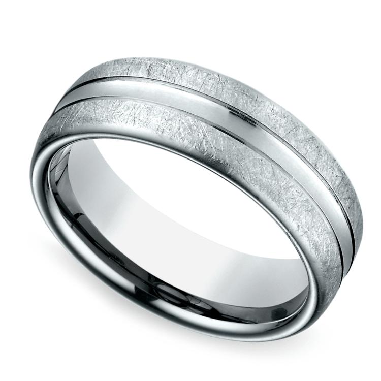 Convex Swirl Men's Wedding Ring in Palladium | 01