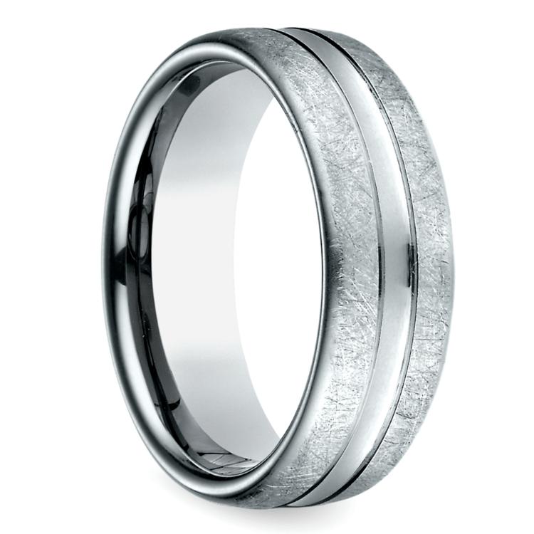 Convex Swirl Men's Wedding Ring in Palladium | 02