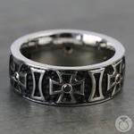 Cross Black Diamond Men's Wedding Ring in Cobalt (9mm) | Thumbnail 03