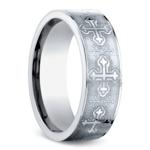 Cross Men's Wedding Ring in Cobalt (7.5mm) | Thumbnail 02