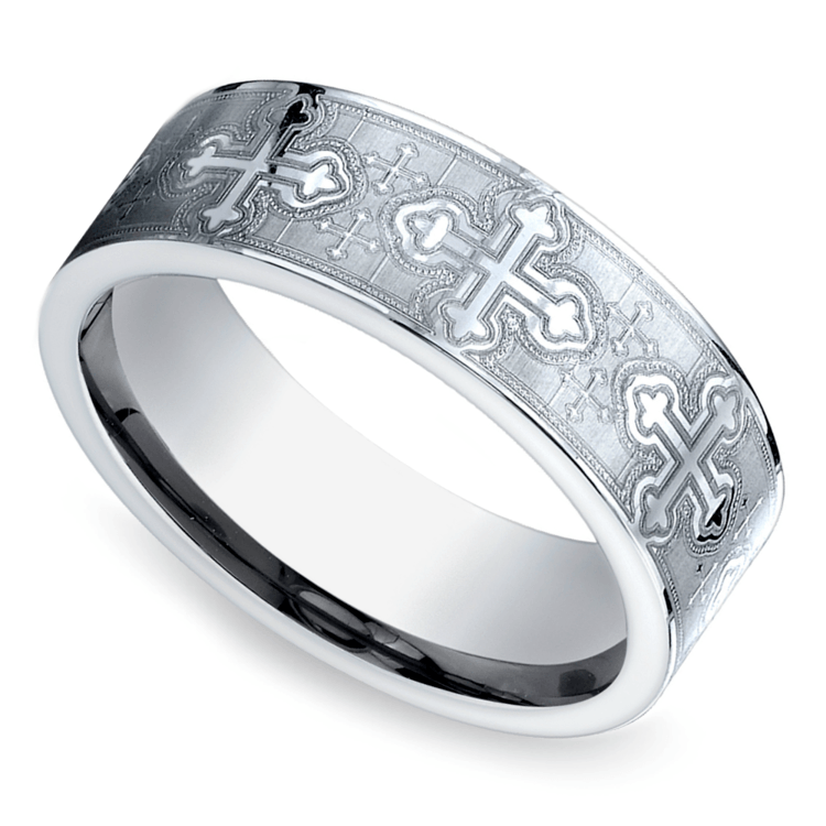 Cross Men's Wedding Ring in Cobalt (7.5mm) | 01