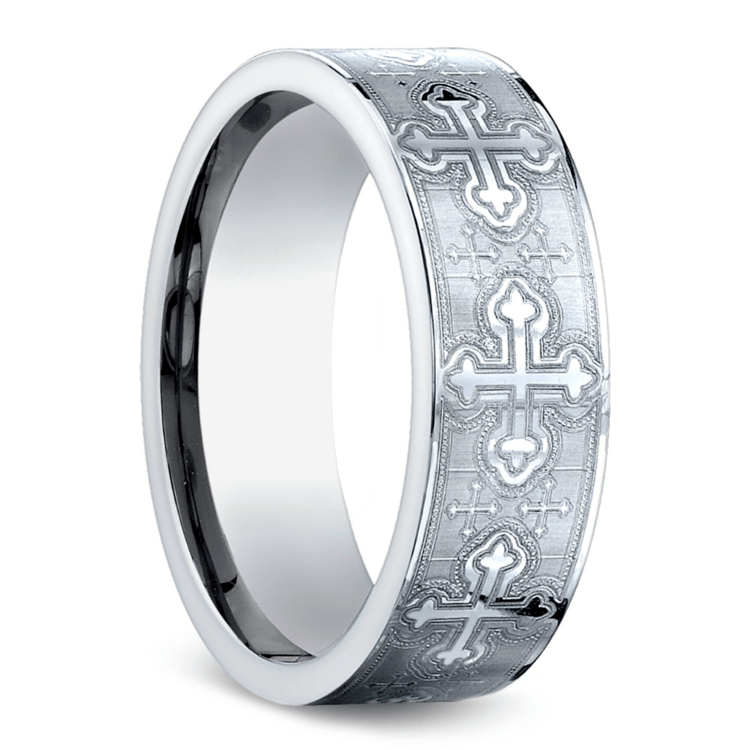 Cross Men's Wedding Ring in Cobalt (7.5mm) | 02