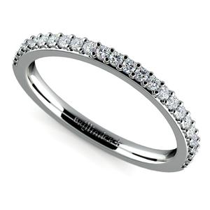 Curved Diamond Wedding Ring in Platinum