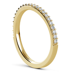 Curved Diamond Wedding Ring in Yellow Gold  | Thumbnail 04
