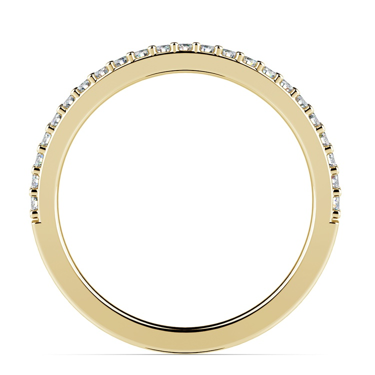 Curved Diamond Wedding Ring in Yellow Gold  | 03