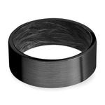 Dark Night - Zirconium & Carbon Fiber Mens Ring | Thumbnail 03
