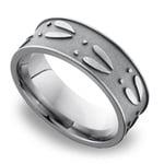 Deer Pattern Men's Wedding Ring in Titanium   Thumbnail 01