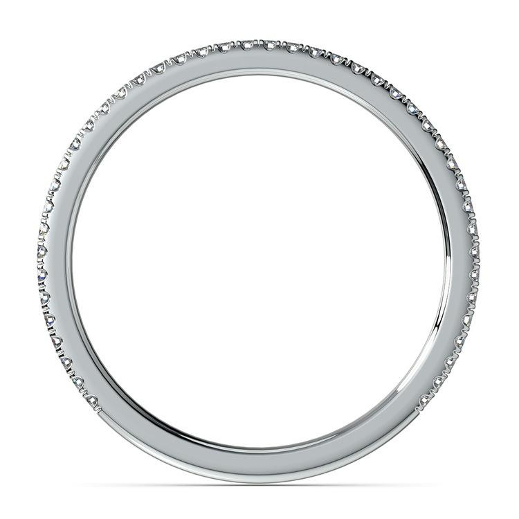 Delicate Thin Diamond Wedding Band In Platinum   03