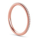 Elegant Thin Diamond Wedding Band In Rose Gold | Thumbnail 04