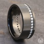 Oracle - Zirconium Diamond Mens Wedding Band | Thumbnail 04