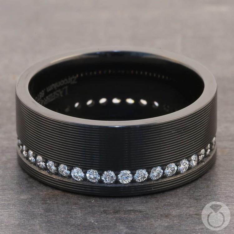Oracle - Zirconium Diamond Mens Wedding Band | 04