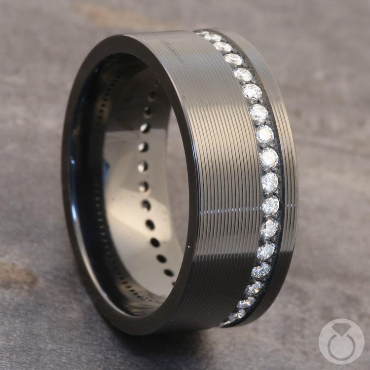 Oracle - Zirconium Diamond Mens Wedding Band | 04