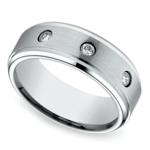 Diamond Bezel Men's Wedding Ring in Cobalt (8mm) | Thumbnail 01