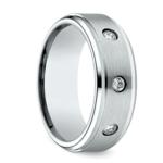 Diamond Bezel Men's Wedding Ring in Cobalt (8mm) | Thumbnail 02