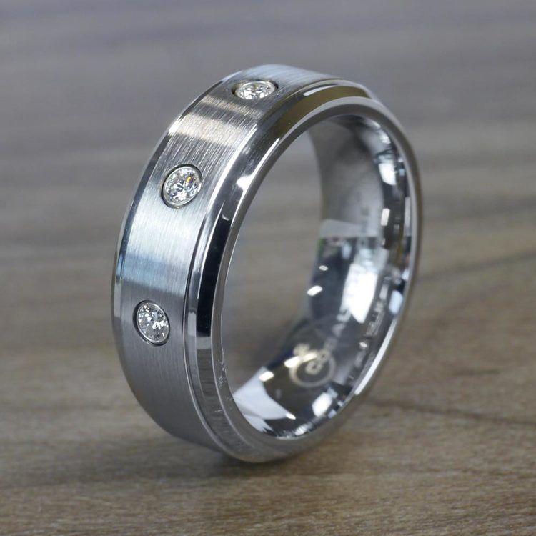 Diamond Bezel Men's Wedding Ring in Cobalt (8mm)   03