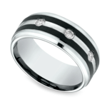Diamond Bezel Men's Wedding Ring in Cobalt (9mm) | Thumbnail 01