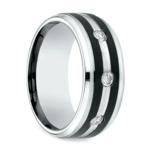Diamond Bezel Men's Wedding Ring in Cobalt (9mm) | Thumbnail 02