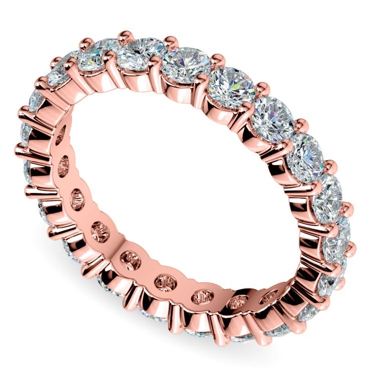 Diamond Eternity Ring in Rose Gold (2 ctw) | 01
