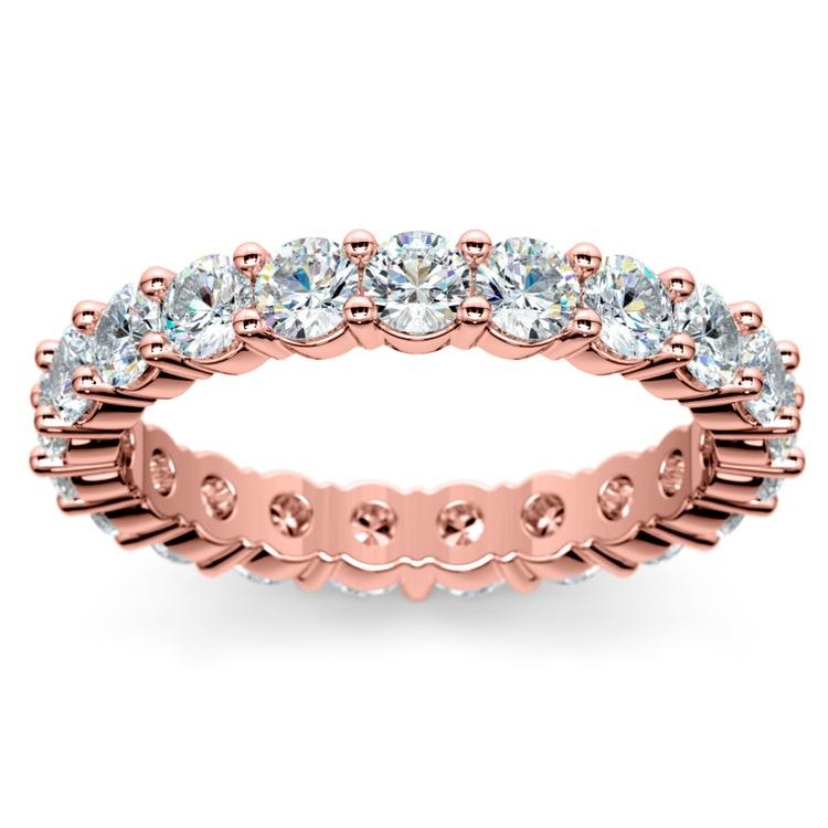 Diamond Eternity Ring in Rose Gold (2 ctw) | 02