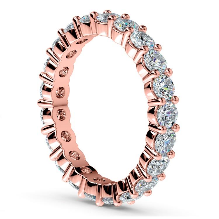 Diamond Eternity Ring in Rose Gold (2 ctw) | 04