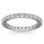 Diamond Eternity Ring in White Gold (1 ctw) | Thumbnail 02