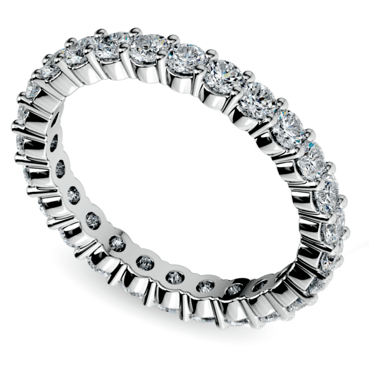 Diamond Eternity Ring in White Gold (1 ctw) | 01