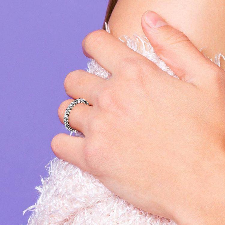 Diamond Eternity Ring in White Gold (1 ctw) | 06
