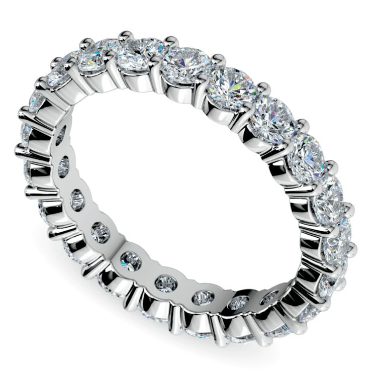 Diamond Eternity Ring in White Gold (2 ctw) | 01
