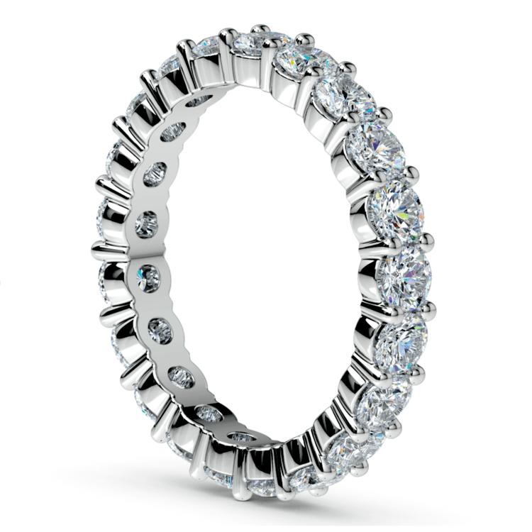 Diamond Eternity Ring in White Gold (2 ctw) | 04