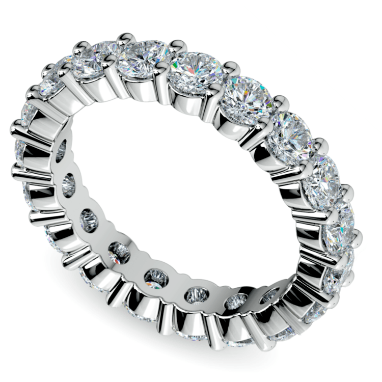 Eternity Diamond Band in White Gold (3 ctw) | 01