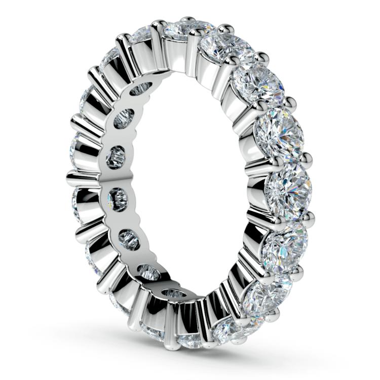 Diamond Eternity Ring in White Gold (4 1/4 ctw) | 04