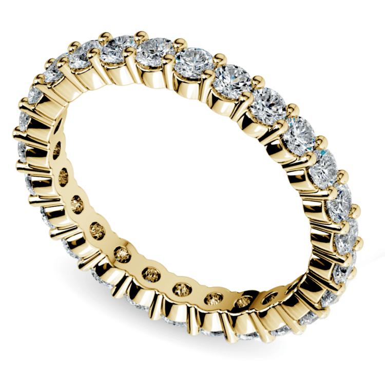Diamond Eternity Ring in Yellow Gold (1 ctw) | 01
