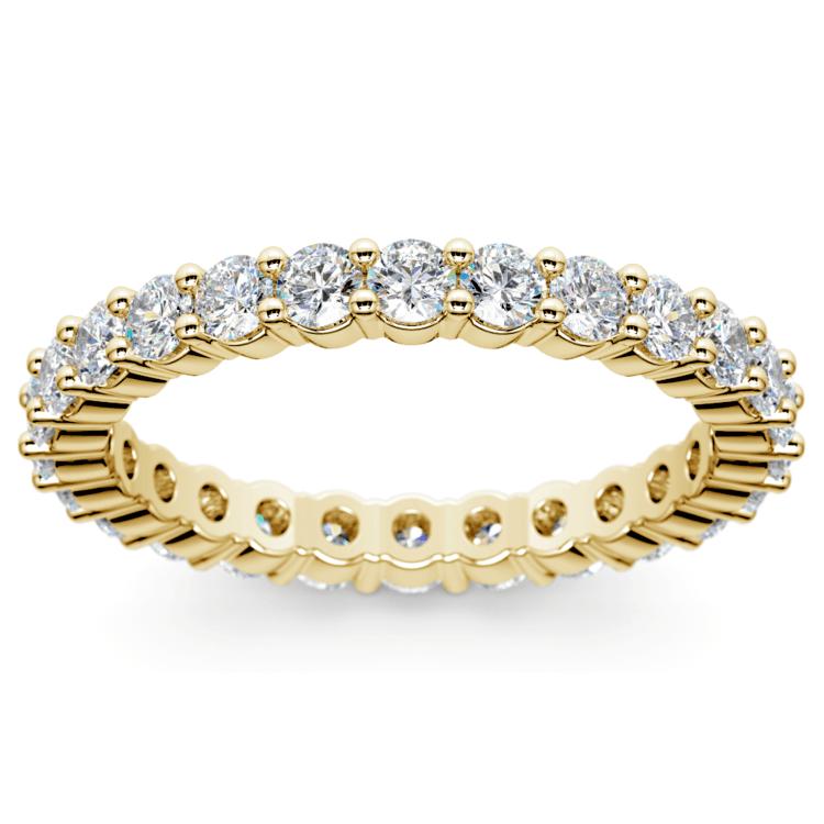 Diamond Eternity Ring in Yellow Gold (1 ctw) | 02