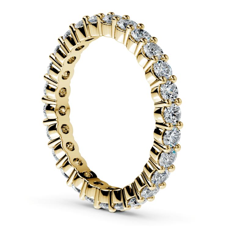 Diamond Eternity Ring in Yellow Gold (1 ctw) | 04