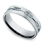 Diamond Eternity Men's Wedding Ring in Palladium | Thumbnail 01