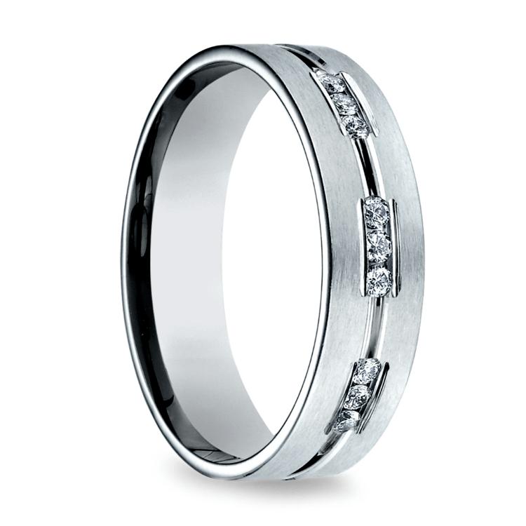Diamond Eternity Men's Wedding Ring in Palladium | 02