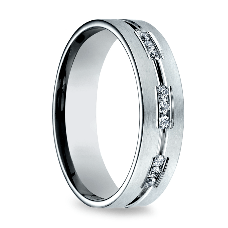 Diamond Eternity Men's Wedding Ring in Platinum  | 02