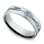 Diamond Eternity Men's Wedding Ring in White Gold | Thumbnail 01