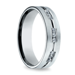 Diamond Eternity Men's Wedding Ring in White Gold | Thumbnail 02