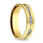 Diamond Eternity Men's Wedding Ring in Yellow Gold | Thumbnail 02