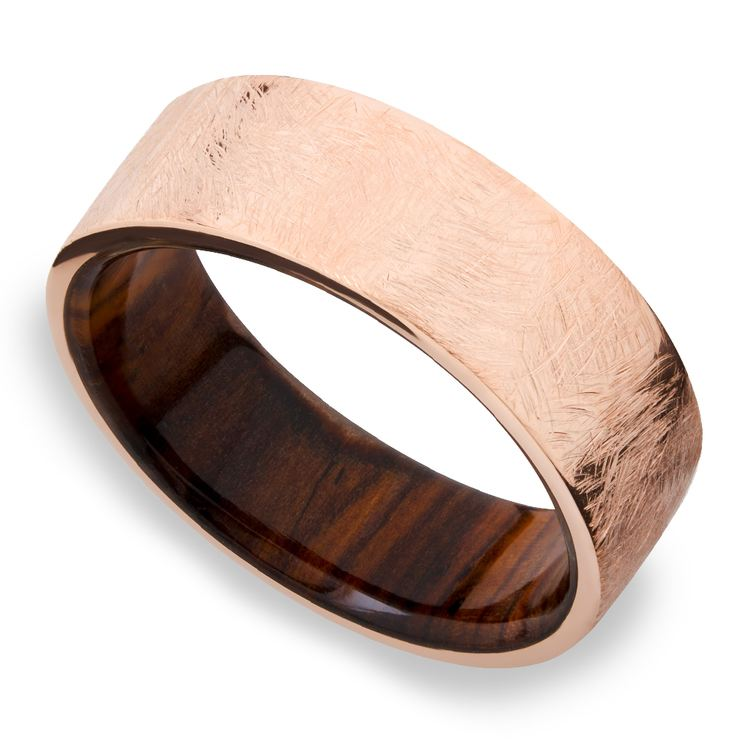 Lincoln - 14K Rose Gold Mens Wedding Band | 01