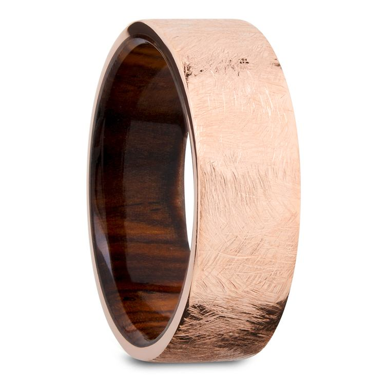 Lincoln - 14K Rose Gold Mens Wedding Band | 02