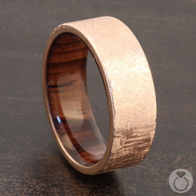 Lincoln - 14K Rose Gold Mens Wedding Band | 04